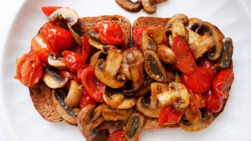 Mushroom and Tomato Toast