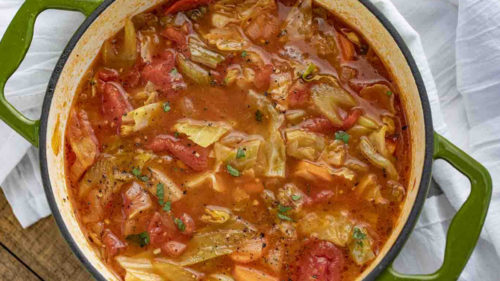 Cabbage And Tomato Soup