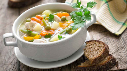 Chicken And Vegetables Soup