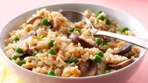 Mushroom And Pea Rice